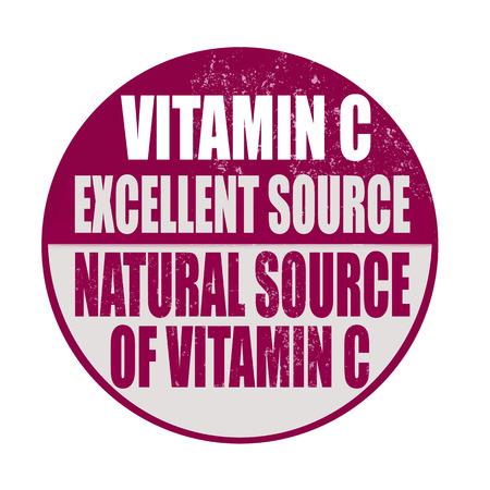 advertize: vitamina c grunge stamp on whit vector illustration