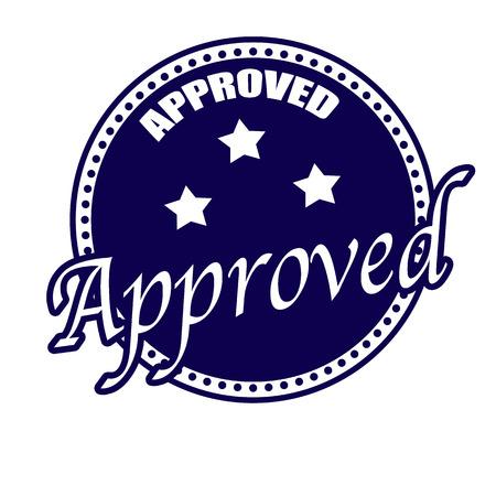 proved: timbro etichetta approvata su briciolo illustrazione vettoriale