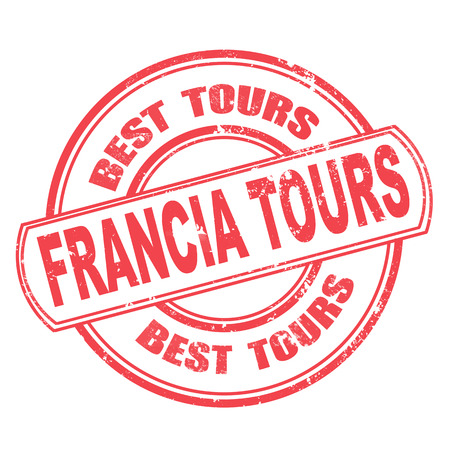 francia tours grunge stamp on whit vector illustration Vector