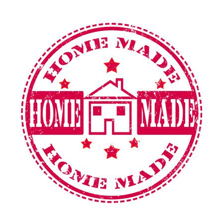 home made: home made grunge stamp on whit vector illustration Illustration