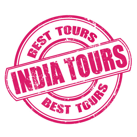 india tours grunge stamp on whit vector illustration Vector
