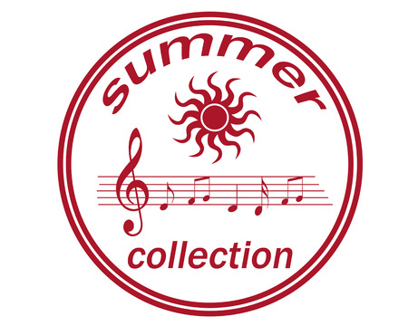 ilustration: Label whit text summer collection ,vector ilustration