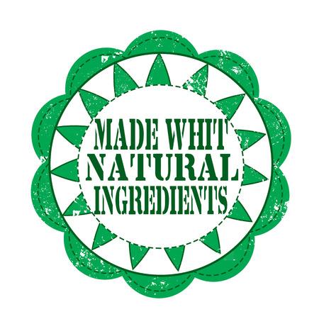 natural grunge stamp on whit vector illustration