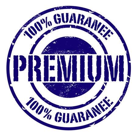 Premium grunge stamp on white, vector illustration