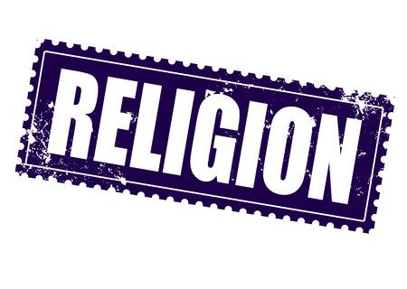 jesus clouds: religion grunge stamp on whit vector illustration