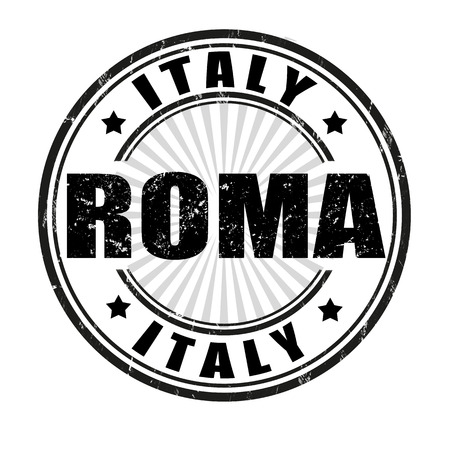 roma grunge stamp on whit vector illustration Vector