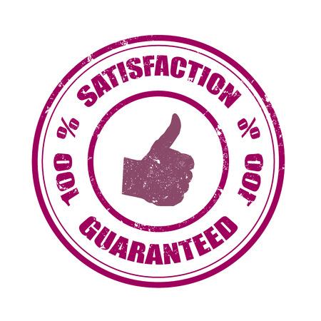 per cent: satisfaction grunge stamp on whit vector illustration Illustration