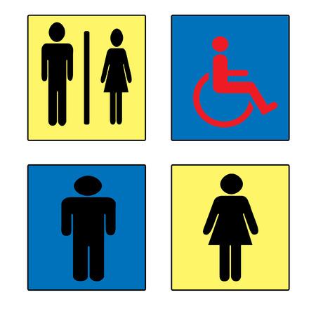 genders: toilet background on whit vector illustration