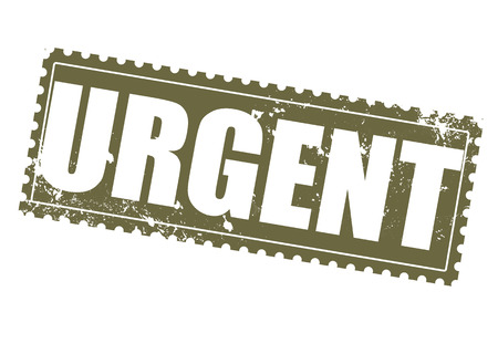 response time: urgent grunge stamp on whit vector illustration Illustration