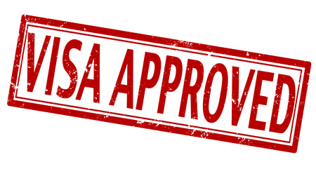 visa approved: visa approved grunge on whit , vector illustartion
