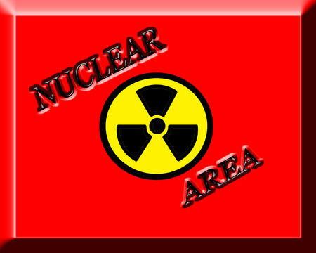 Red background with text Nuclear Area,vector illustration Stock Vector - 25943837