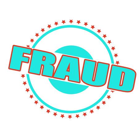 fraude grunge stempel op whit vectorillustratie Stock Illustratie
