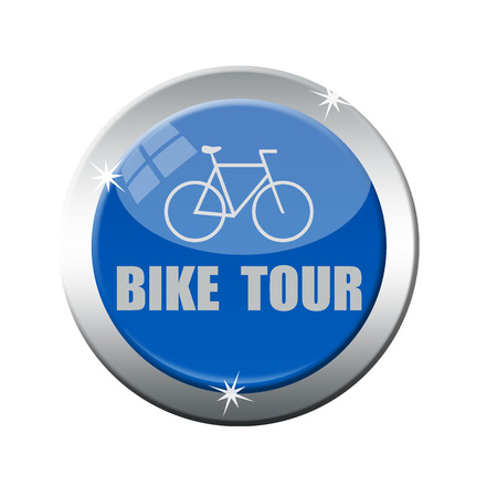 bike tour grunge stamp on whit vector illustration Vector