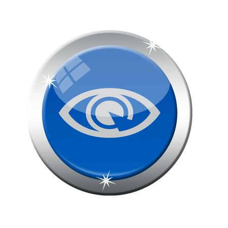 clearer: eyes grunge stamp on whit vecto rillustration