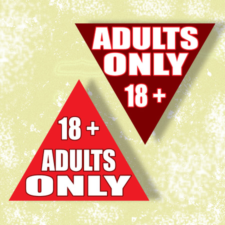 explicit: adults only background whit on vector illustration
