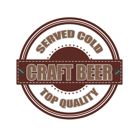 craft beer grunge stamp whit on vector illustration Stock Vector - 26073009