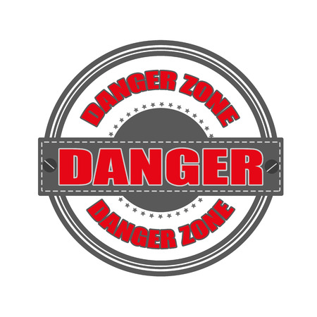 danger grunge stamp whit on vector illustration Vector