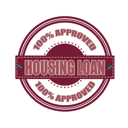 housing loan grunge stamp whit on vector illustration Vector