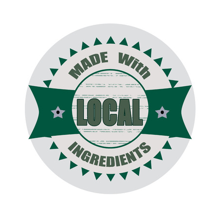 local: local grunge stamp whit on vector illustration