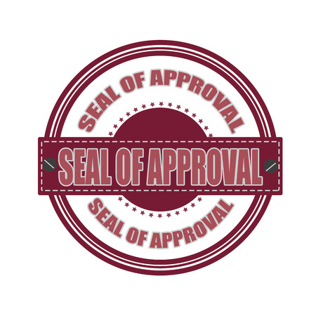 seal of approval grunge stamp whit on vector illustration