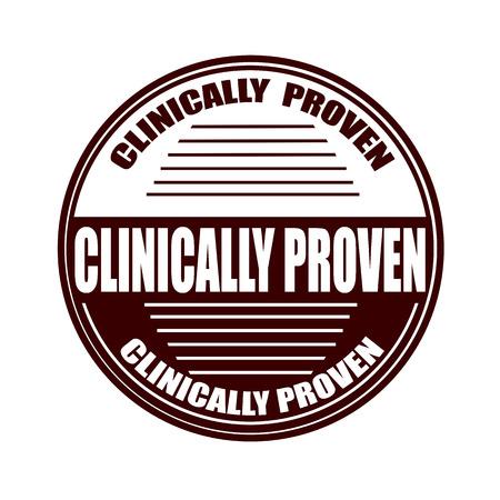 clinically: clinicamente controllato briciolo grunge timbro su illustrazione vettoriale