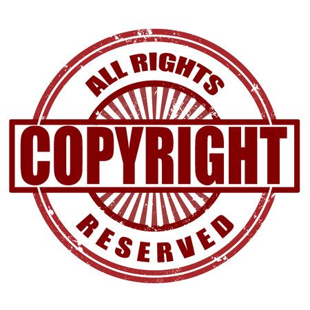 plagiarism: copyright grunge stamp whit on vector illustration