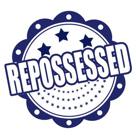 repossessed grunge stamp whit on vector illustration