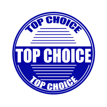 top choice grunge stamp whit on vector illustration Vector
