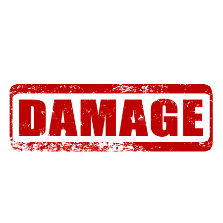 damage grunge stamp whit on vector illustration Vector