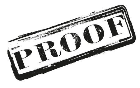 proof label stamp whit on vector illustration Stock Vector - 26203079