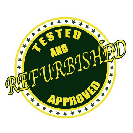 refurbished: refurbished grunge stamp whit on vector illustration