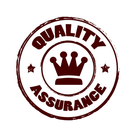 quality assurance: quality assurance grunge stamp whit on vector illustration