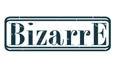 bizarre grunge stamp whit on vector illustration