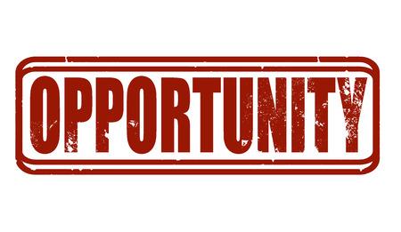 opportunity grunge stamp whit on vector illustration Stock Vector - 26636346