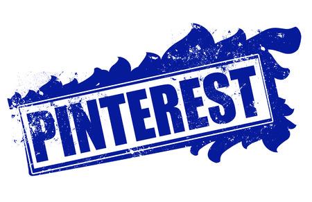 pinterest: pinterest grunge stamp whit on vector illustration