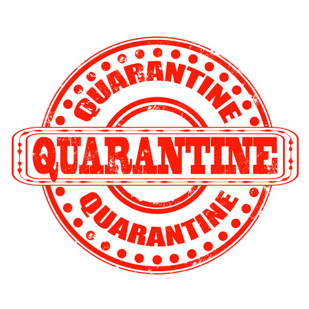 quarantine grunge stamp with on vector illustration Stock Vector - 26636352