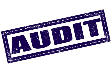 internal revenue service: audit grunge stamp whit on vector illustration