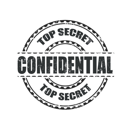 confidential grunge stamp whit on vector illustration Stock Vector - 26636329