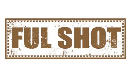 ful: ful shot grunge stamp with on vector illustration