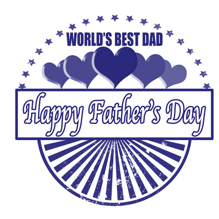 happy father's day background whit on vector illustration Vector
