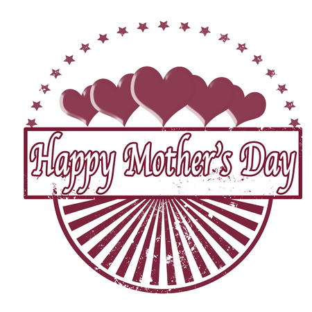 whit: happy mothers day background whit on vector ilustration Illustration
