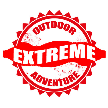 outdoor adventure grunge stamp with on vector illustration Vector