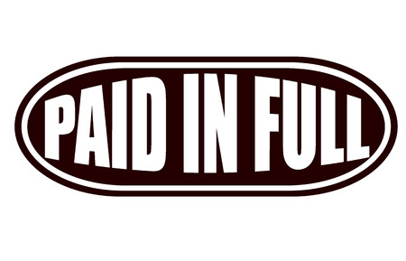 paid in full grunge stamp whit on vector illustration Vector