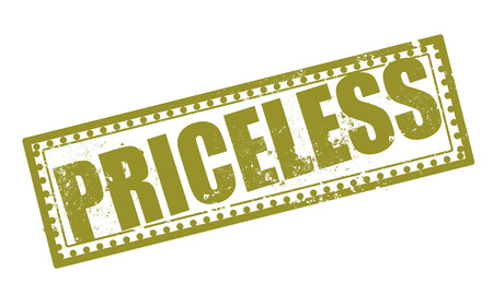 priceless: priceless grunge stamp with on vector illustration Illustration