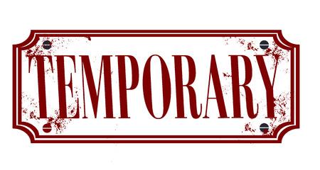 temporary grunge stamp whit on vector illustration