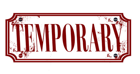 on temporary: temporary grunge stamp whit on vector illustration