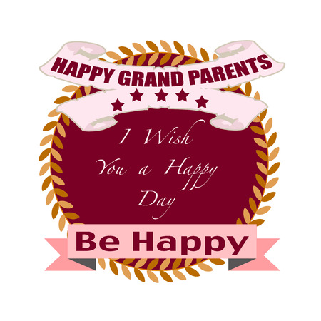grand parents: happy grand parents grunge stamp whit on vector illustration