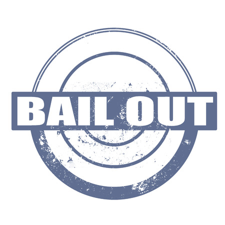 bail: bail out grunge stamp with on vector illustration