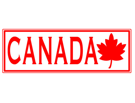 canada stamp: canada grunge stamp with on vector illustration