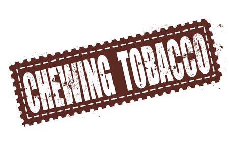 chewing: chewing tobacco grunge stamp with on vector illustration Illustration